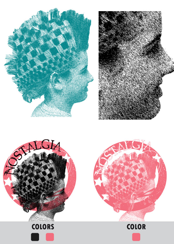 Texture Halftone for Screen Printing