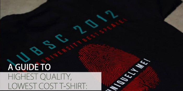 A GUIDE TO HIGHEST QUALITY, LOWEST COST T-SHIRT