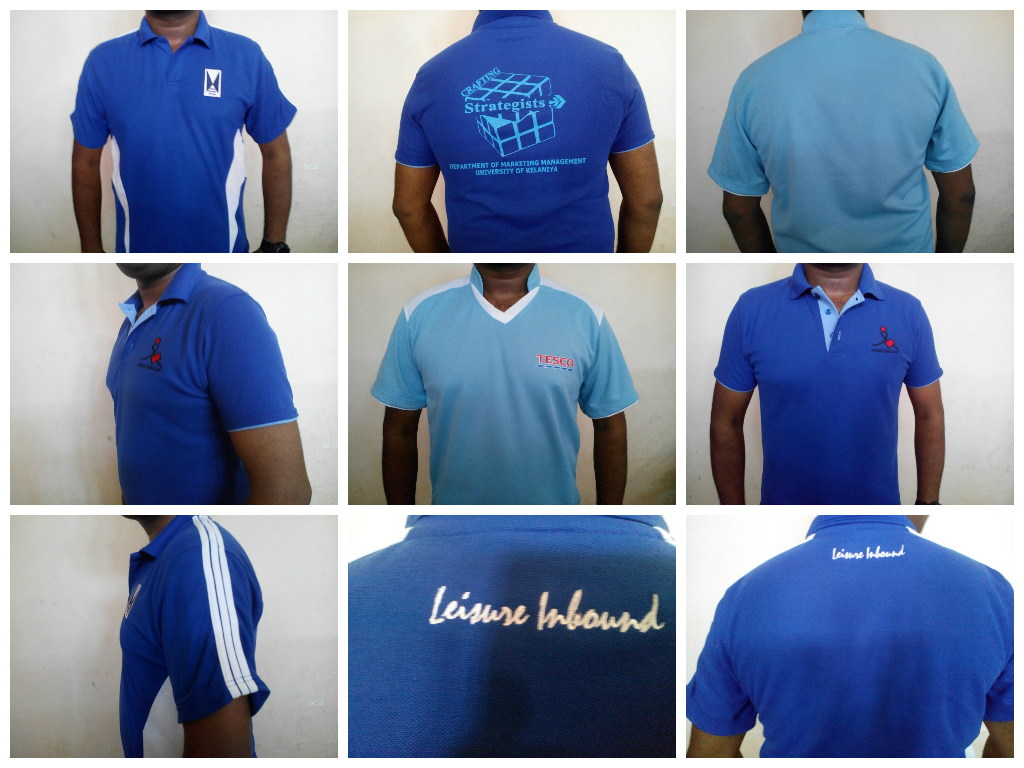 Blue color Custom T shirts