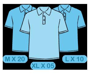 MOQ of tshirts