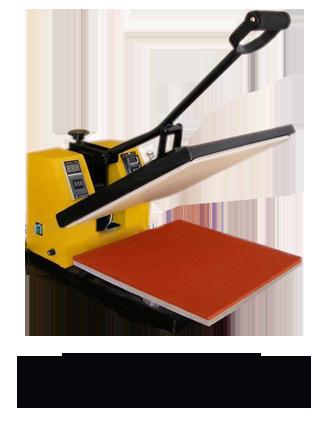 yellow heat transfer machine